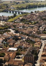 Panoramic view of the city - Moissac Tarn-et-Garonne Occitanie Sud-Ouest